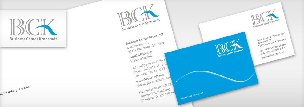 Grafiker Hamburg • Corporate Identity • Logo, Briefbogen, Visitenkarte