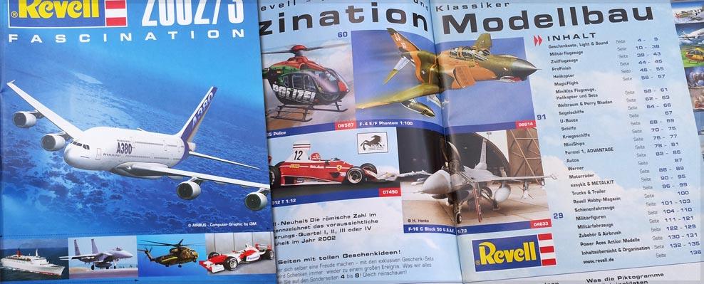 Revell GmbH - Revell Katalog, Art-Direktion, Konzept, Layout