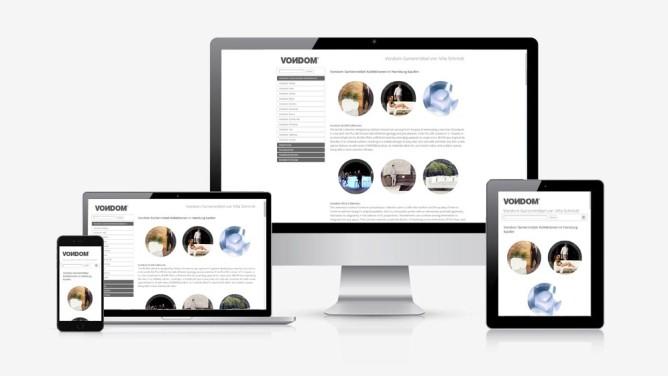 Grafiker Hamburg · Web Design | Kunde · Villa Schmidt GmbH | Vondom Gartenmöbel Homepage